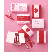 Martha Stewart Valentine's Day Mini Match Box, 6-Pack Wholesale Bulk