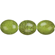 Cousin Jewelry Basics Acrylic Beads, Green Crackle Wholesale Bulk