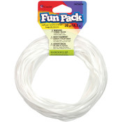 Cousin Fun Pack Plastic Craft Lace-White Wholesale Bulk