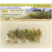 Multicolored Flower Trees, 8-Pack
