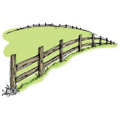 Art Impressions Wilderness Stamp, Country Fence