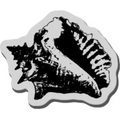 Stampendous Cling Rubber Stamp, Heavy Conch