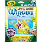 Crayola Crystal Effects Window Markers, 8-Pack Wholesale Bulk