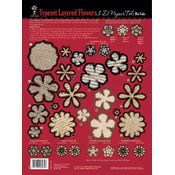 3-D Papier Tole Die-Cut, Type Set Layered Flowers