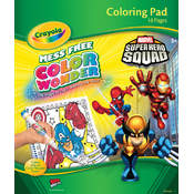 Crayola Color Wonder Coloring Pad, Super Hero Squad Wholesale Bulk