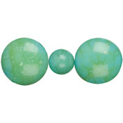 Cousin Jewelry Basics Acrylic Beads, Teal Round Mix Wholesale Bulk