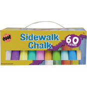 Poof-Slinky Jumbo Sidewalk Chalk, 60-Pack Wholesale Bulk
