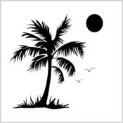 Crafters Workshop Crafter's Workshop Templates, Palm Tree Wholesale Bulk