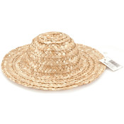 "Round Top Straw Hat 14""-Natural"