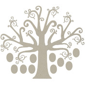 Die-Cut Grey Chipboard Embellishments-Tree