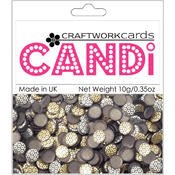 Craftwork Cards Candi Dot Embellishments, Metallique - Bronze Wholesale Bulk