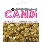 Craftwork Cards Candi Dot Embellishments, Metallique - Tungsten Wholesale Bulk