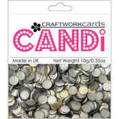 Craftwork Cards Candi Dot Embellishments, Metallique - Steel Wholesale Bulk
