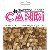 Craftwork Cards Candi Dot Embellishments, Metallique - Copper Wholesale Bulk