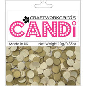 Craftwork Cards Candi Dot Embellishments, Texture Gold Wholesale Bulk
