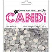 Craftwork Cards Candi Dot Embellishments, Texture Silver Wholesale Bulk