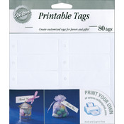 Rectangle Tags 80/Pk-White