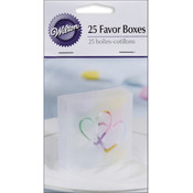 Two Hearts Acetate Box 25/Pkg-Clear