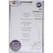 Single Border Invitation Kit 100/Pkg-White