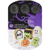 Non-Stick Cookie Pan-Halloween 12 Cavity 3D