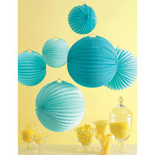 Accordion Lantern 1/Pkg-Blue