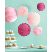 Accordion Lantern 1/Pkg-Pink