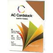"American Crafts Cardstock Pack 5""X7"", Earthtones"