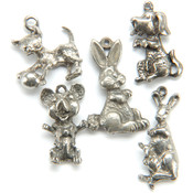 Metal Charm Mix 5/Pkg-Animal Friends