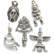Metal Charm Mix 5/Pkg-Native Figures