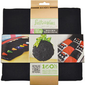 "Feltables Craft Pack Printed Felt 36""X36""-Black"