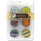 "Vintage Standard Bottle Caps 1"" 6/Pk-Collection #2"