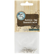 Bottle Cap Vntage Collection Eye Hooks 8/Pkg-Antique Silver Wholesale Bulk