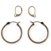 Darice Styled by Tori Spelling Earring Findings-Bronze Wholesale Bulk