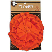 Canvas Flower-Orange
