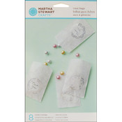 Martha Stewart Treat Bags 4-1/2'X7' 8/Pkg-Doily Lace Wholesale Bulk