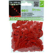 New Image Group Felt Letters And Numbers 1'-Red Wholesale Bulk