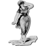 Stampendous Cling Rubber Stamp-Bathing Beauty