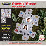 Puzzle Piece Step Stone Kit