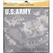 Uniformed Scrapbooks U.S. Army Scrapbook Paper Pack 20/Pkg 12'X12' Wholesale Bulk