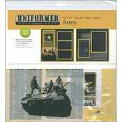 Uniformed Scrapbooks U.S. Army 2 Page Layout 12'X12' Wholesale Bulk