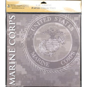 Uniformed Scrapbooks U.S. Marine Scrapbook Paper Pack 20/Pkg 12'X12' Wholesale Bulk