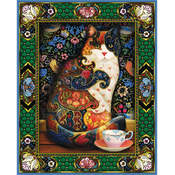 "Jigsaw Puzzle 1000 Pieces 24""X30""-Painted Cat"