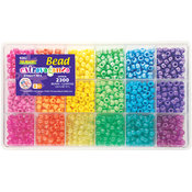 Giant Bead Box Kit 2300 Beads/Pkg-Brights