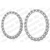 Die-Namics Die-Oval Open Scallop Doily Duo
