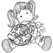 Sweet Crazy Love Cling Stamp-Tilda...Peony Tails