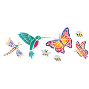Delta Stencil Magic Decorative Stencils-Butterflies & Mo Wholesale Bulk