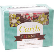 Box Of Patterned Cards With Envelopes-Glimmer