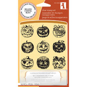 Halloween Inchie Clear Stamps-Pumpkin Faces