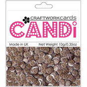 Craftwork Cards Candi Dot Embellishments .35 oz-Safari - Cheetah Wholesale Bulk