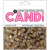 Craftwork Cards Candi Dot Embellishments .35 oz-Safari - Tiger Wholesale Bulk